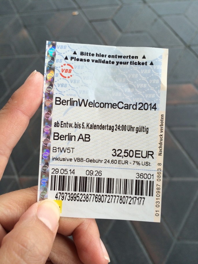 Berlin Welcome Card - just a slip of paper