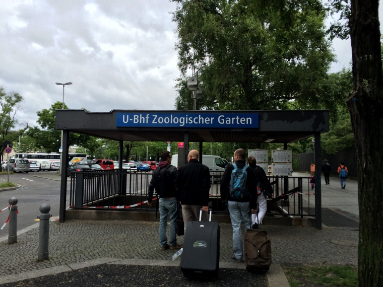 One of the entrances into Zoologischer Garten station