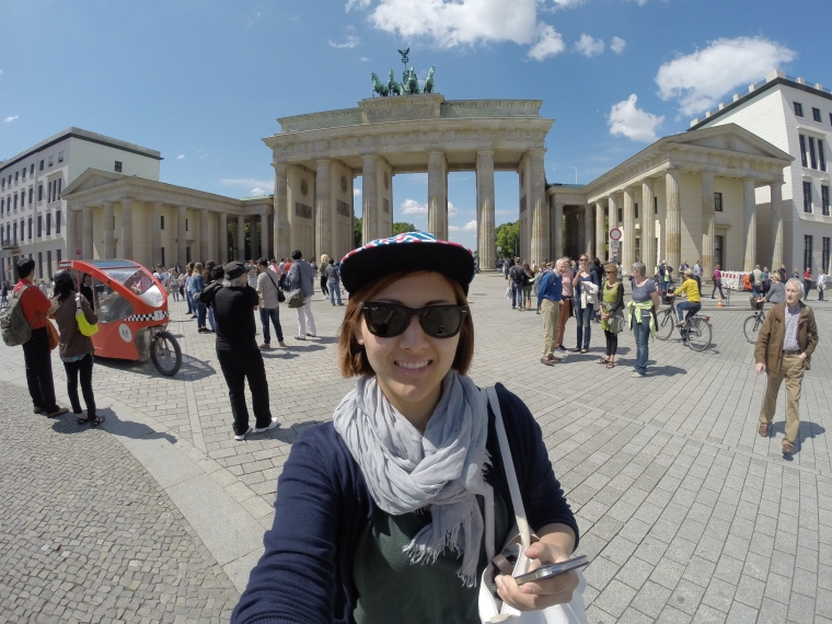 my solo pic at Brandenburg Gate