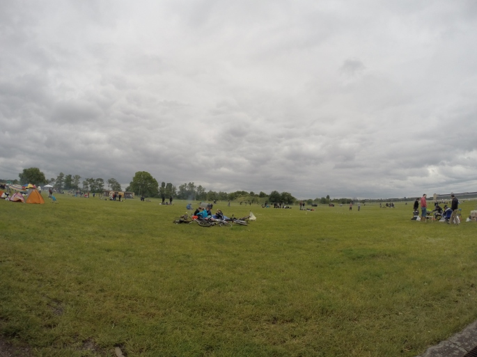 People just chilling on the grass