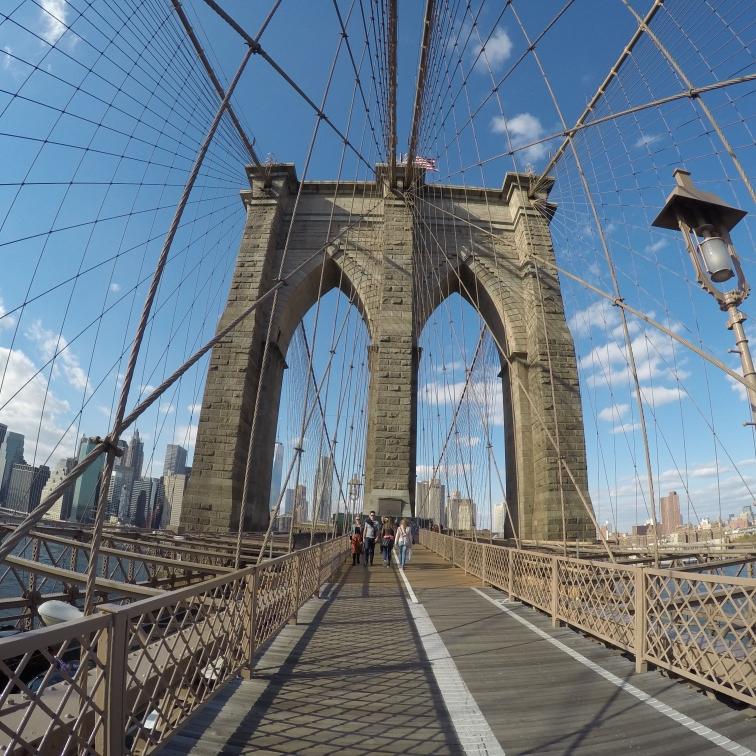 starting the Brooklyn Bridge
