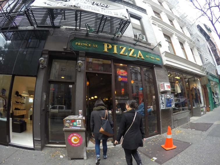 Front of Prince St Pizza