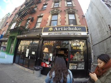 front of Artichoke Basille's Pizza