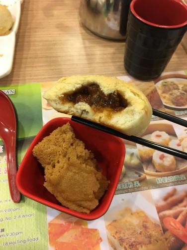 pork bun and sponge cake