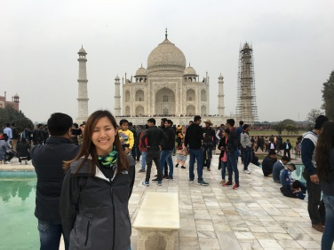 proof that I am indeed at the Taj Mahal
