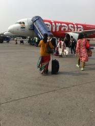 taking the plane to Jaipur