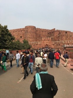 entering the Red Fort