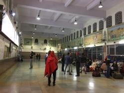 inside a Jaipur train station