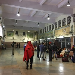 inside a Jaipur train station